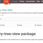 【Atom】ツリークリック時のプレビューを止めるパッケージ chary-tree-view
